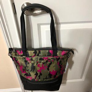 LUG CAMO ORCHID WHIRL TOTE BAG, RETIRED! RARE, NWT